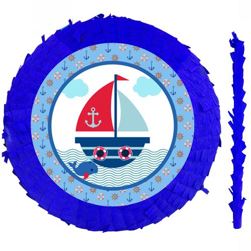 Denizci Temalı Pinyata 42 cm + Sopası, fiyatı