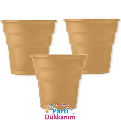 Gold Plastik Bardak Lüks (25 adet), fiyatı