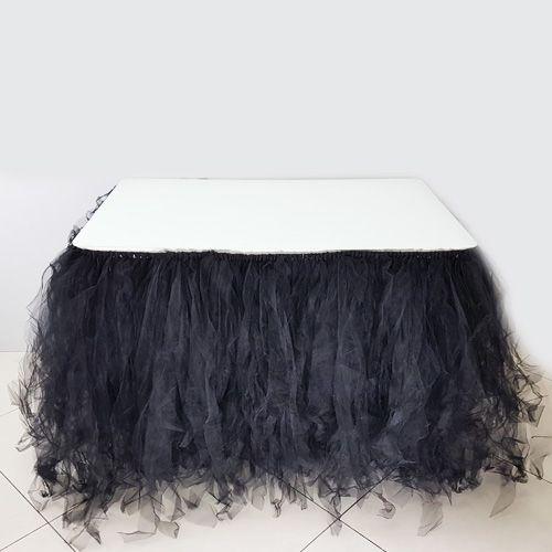 Tütü Masa Eteği Siyah (350*75 cm), fiyatı