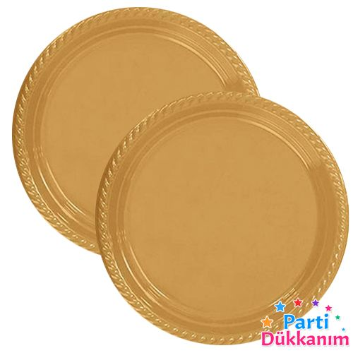 Gold Plastik Tabak (25 adet), fiyatı