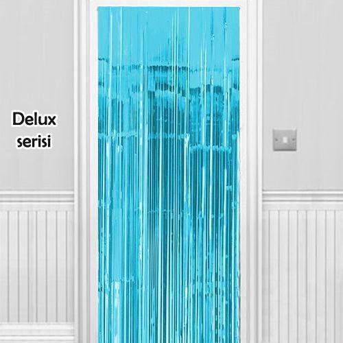 Işıltılı Duvar ve Kapı Perdesi Açık Mavi 90x200 cm, fiyatı