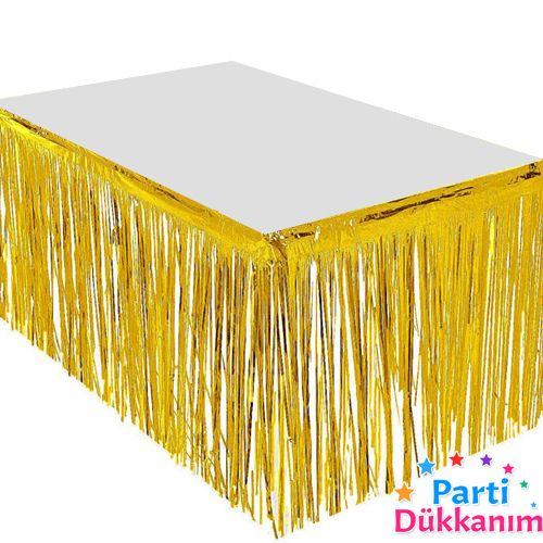 Işıltılı Püsküllü Masa Eteği 70*360 cm, fiyatı
