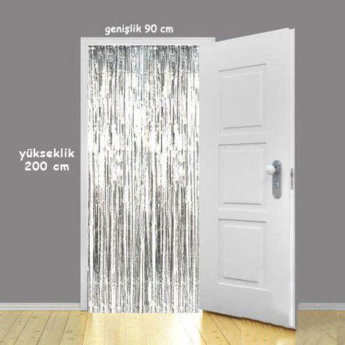 Işıltılı Duvar ve Kapı Perdesi Gümüş 100*220 cm, fiyatı