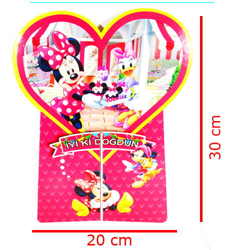 Minnie Mouse Orta Süs (1 Adet), fiyatı