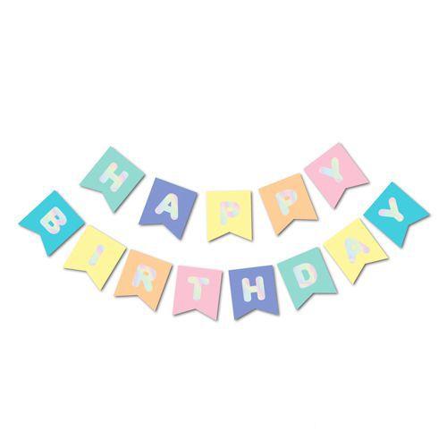 Rengarenk Makaron Renkli Happy Birthday Yazısı, fiyatı