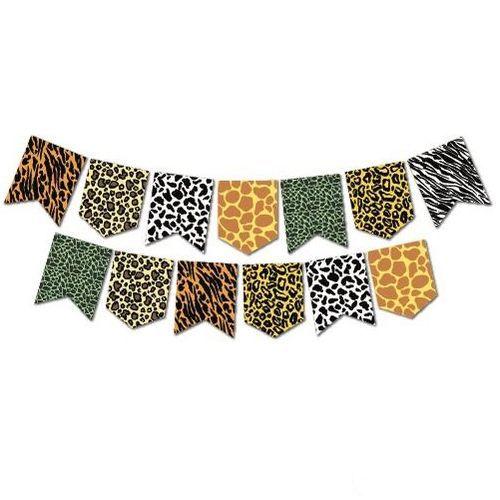 Safari Desenli Zigzag Banner 190 cm, fiyatı