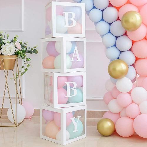 Baby Yazılı Şeffaf Kutu Harf Beyaz 25 cm, fiyatı