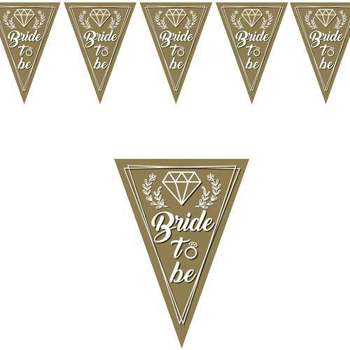 Bride To Be Flama Bayrak Süs Gold (2 m.), fiyatı