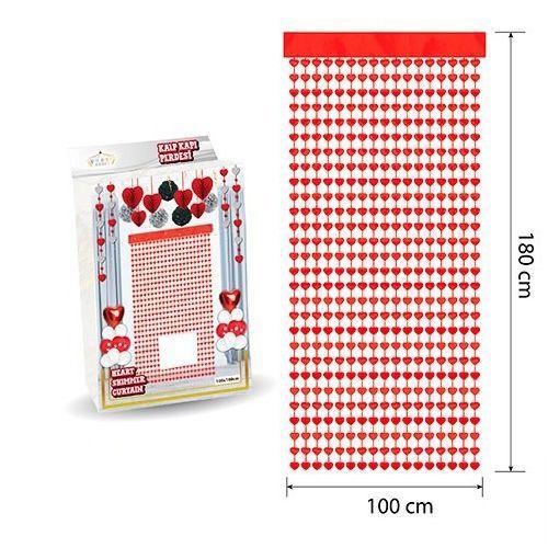 Kalpli Duvar ve Kapı Perdesi Kırmızı 100*180cm, fiyatı