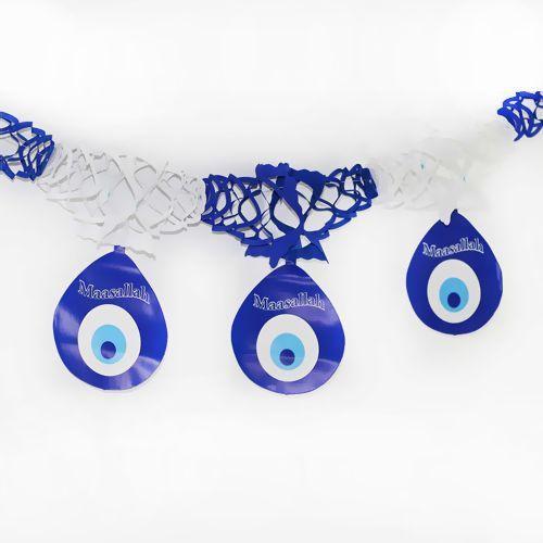 Nazar Boncuğu Zincir Süs Mavi (170 cm), fiyatı