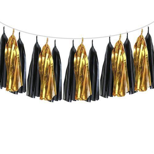 Siyah - Gold Püskül Süs 4 metre, fiyatı