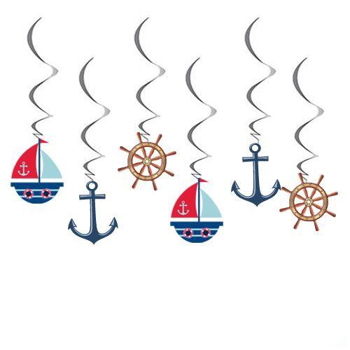 Denizci Temalı Asmalı Tavan Süsü 6 Adet, fiyatı