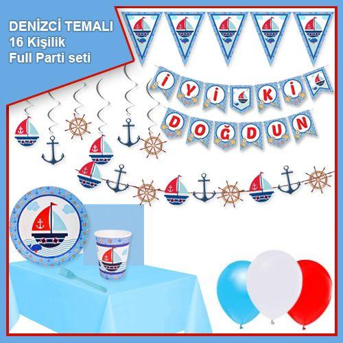 Denizci Temalı 16 Kişilik Ekonomik Parti Seti, fiyatı