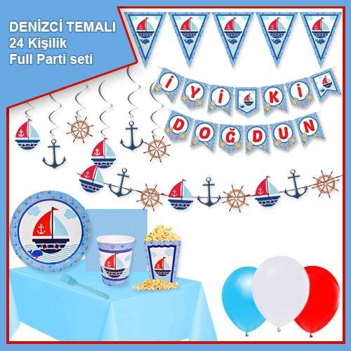 Denizci Temalı 24 Kişilik Ekonomik Parti Seti, fiyatı