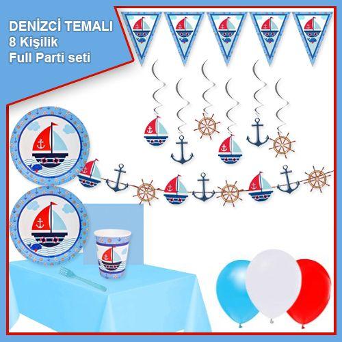 Denizci Temalı 8 Kişilik Ekonomik Parti Seti, fiyatı