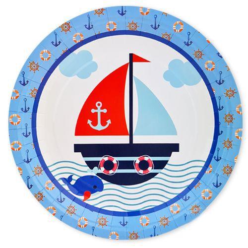 Denizci Temalı Tabak 8 adet, fiyatı