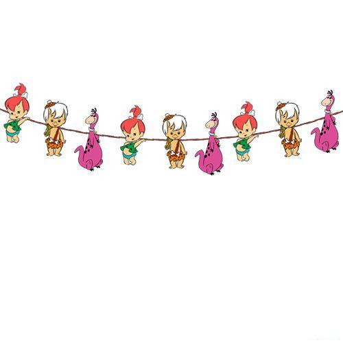 Taş Devri Çakıltaş Bambam Dekoratif Banner 160x17 cm, fiyatı