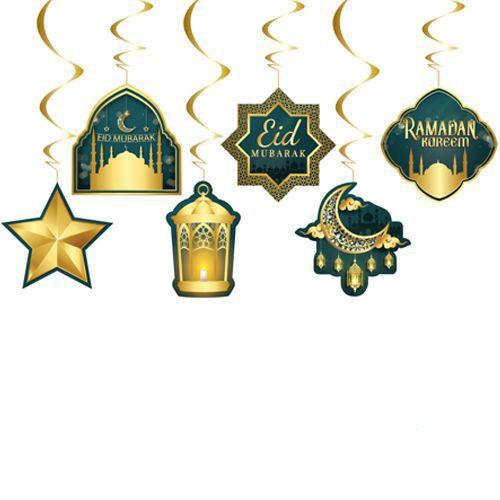 Eid Mubarak Asma Tavan Süs 6 Adet, fiyatı