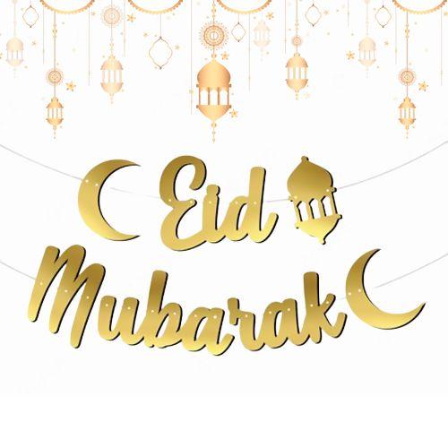Eid Mubarak Kaligrafi Banner, fiyatı