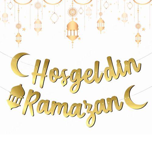 Hoş Geldin Ramazan Kaligrafi Banner, fiyatı