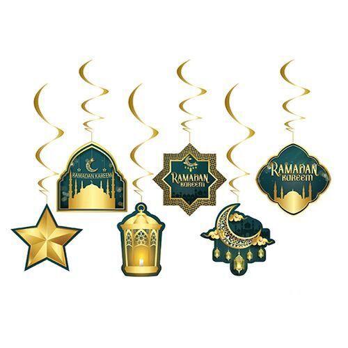 Ramadan Kareem Asma Tavan Süs 6 Adet, fiyatı