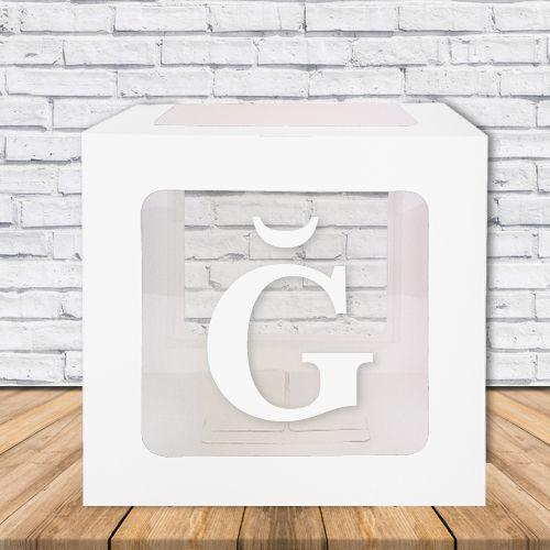 Ğ - Harfi Şeffaf Kutu Mavi-Beyaz-Pembe 25 cm, fiyatı