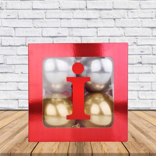 İ - Harfi Şeffaf Kutu Kırmızı Metalik 25 cm, fiyatı