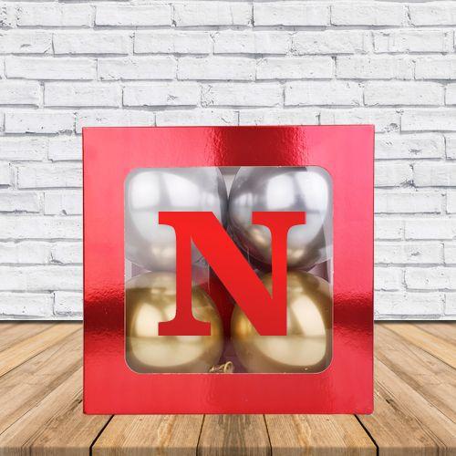 N - Harfi Şeffaf Kutu Kırmızı Metalik 25 cm, fiyatı