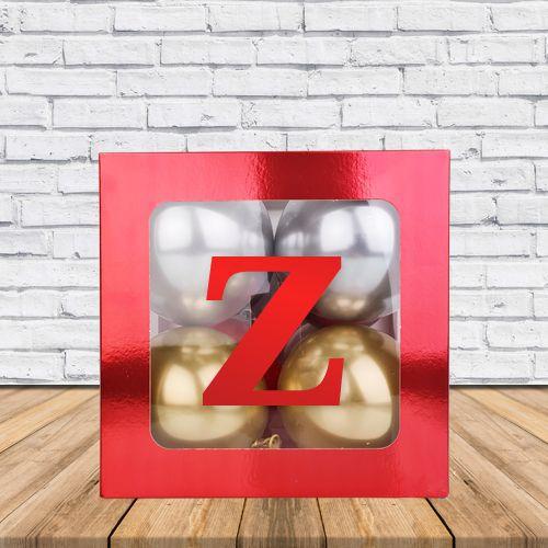 Z - Harfi Şeffaf Kutu Kırmızı Metalik 25 cm, fiyatı