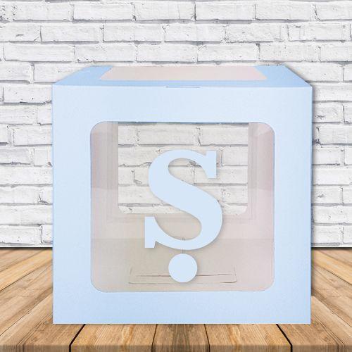 Ş - Harfi Şeffaf Kutu Mavi-Beyaz-Pembe 25 cm, fiyatı