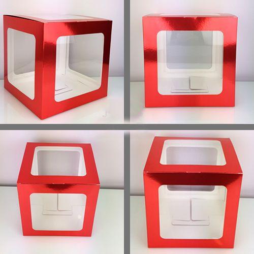 L - Harfi Şeffaf Kutu Kırmızı Metalik 25 cm, fiyatı