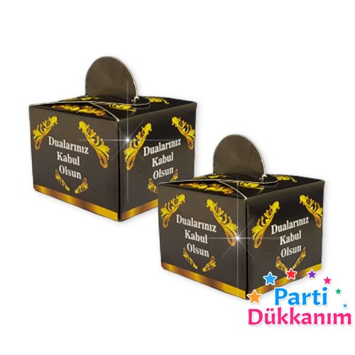 Mevlit Lokum Kutusu Siyah (50 adet), fiyatı