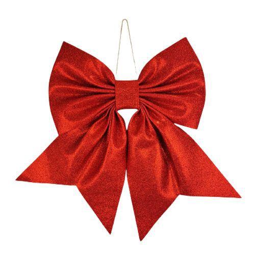 Kırmızı Fiyonk Simli Eva Süs (45*55 cm), fiyatı