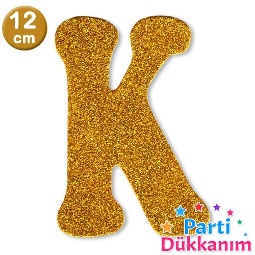 K- Harf Eva Simli Gold (12 cm)