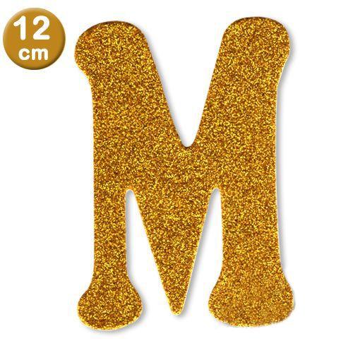 M - Harf Eva Simli Gold (12 cm)