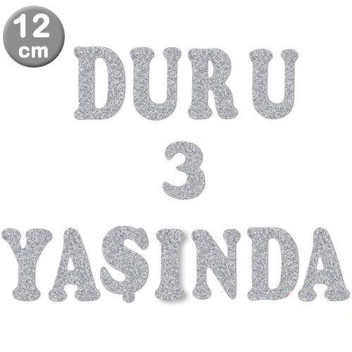 Ü - Harf Eva Simli Gümüş (12 cm)