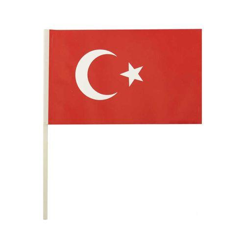 Ay Yıldızlı Çıtalı Bayrak 24 cm 10 adet, fiyatı