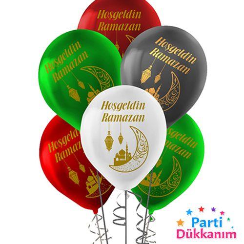 Hoş Geldin Ramazan Baskılı Balon 15 adet, fiyatı