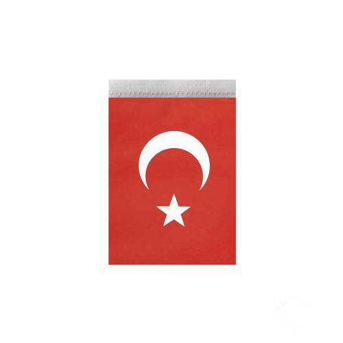 İpli Ay Yıldızlı Bayrak Mini Boy 10*5 cm 50'li, fiyatı