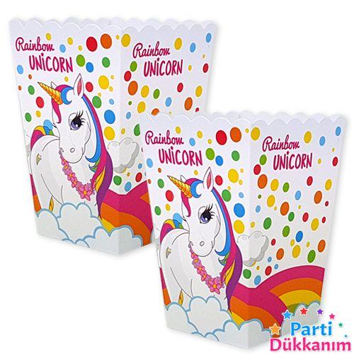 Unicorn Rainbow Mısır Kutusu 10 Adet, fiyatı