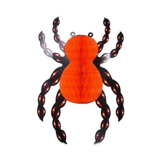 Cadılar Bayramı Halloween Örümcek Petek Süs 25x35 cm, fiyatı