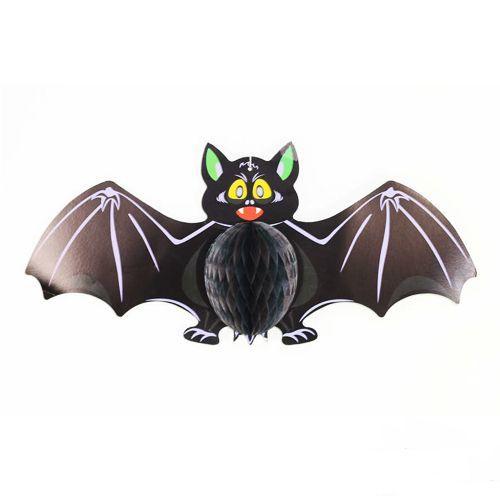 Halloween Yarasa Petek Tavan Süs 60x27 cm, fiyatı