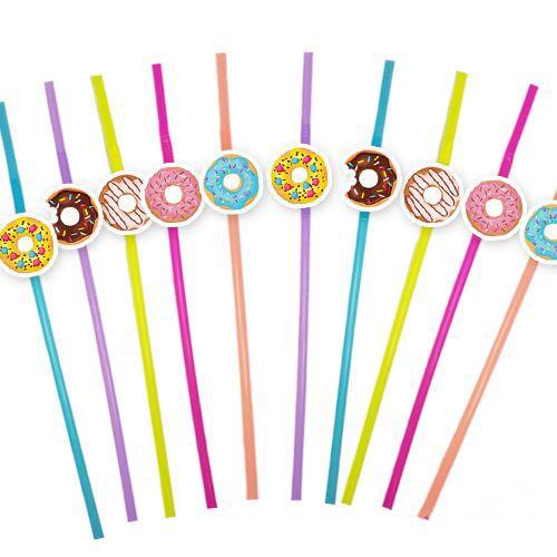 Donut Temalı Artistik Pipet 10 Adet, fiyatı