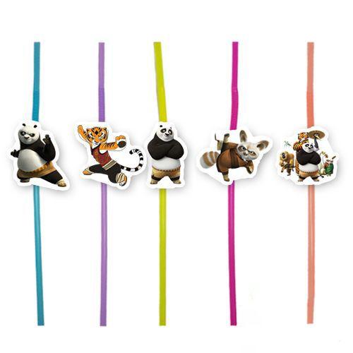 Kung Fu Panda Artistik Pipet (10 Adet), fiyatı