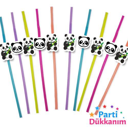 Panda Artistik Pipet 10 Adet, fiyatı