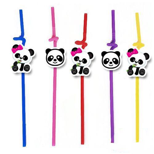 Panda Pembe Fiyonklu Artistik Pipet 10 Adet, fiyatı