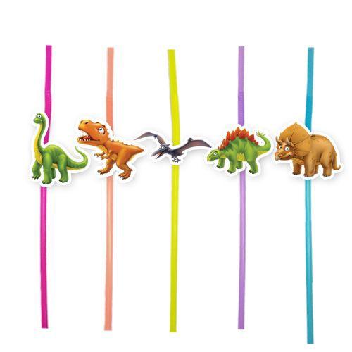 Sevimli Dinozor Artistik Pipet 10 Adet, fiyatı