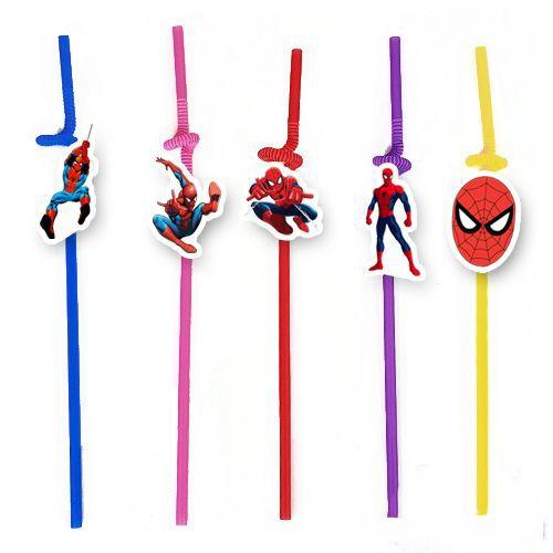Spiderman Artistik Pipet 10 Adet, fiyatı