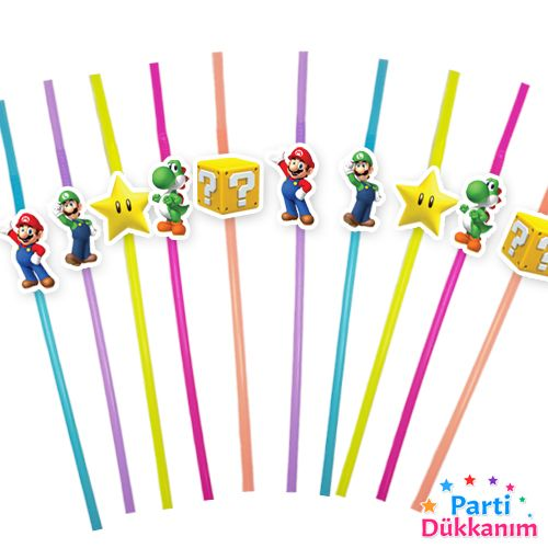 Süper Mario Artistik Pipet 10 Adet, fiyatı