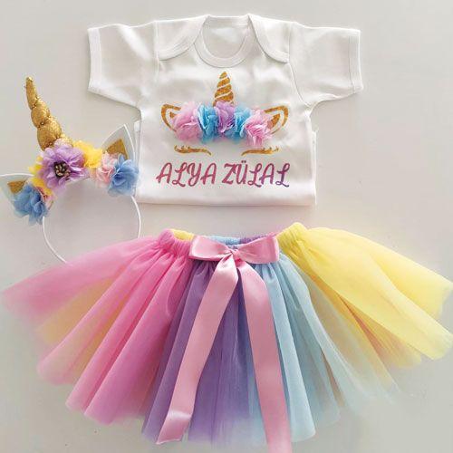 Unicorn Tütü Elbise İsme Özel, fiyatı